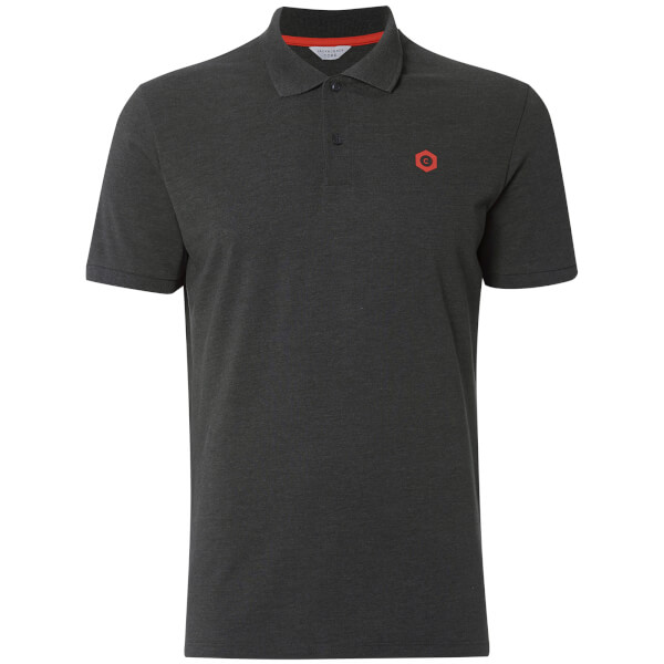 Polo Homme Core Booster Logo Jack & Jones - Gris Charbon