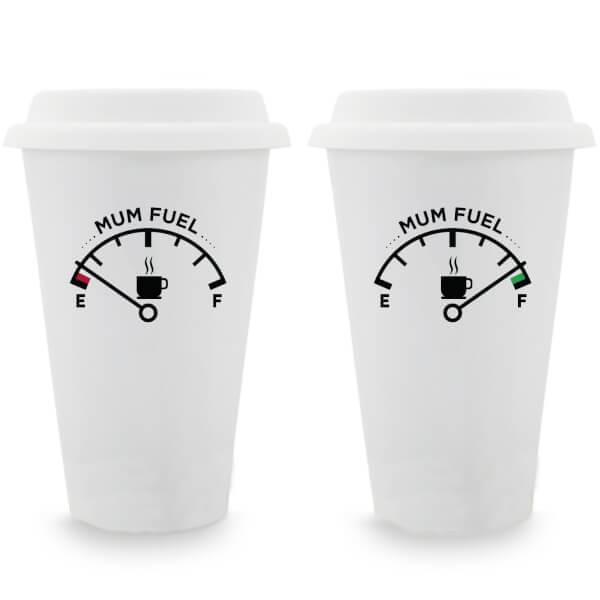 Mum Fuel Ceramic Travel Mug