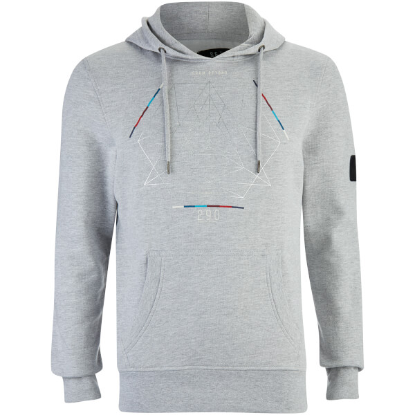 Smith & Jones Men's Obalisk Hoody - Light Grey Marl