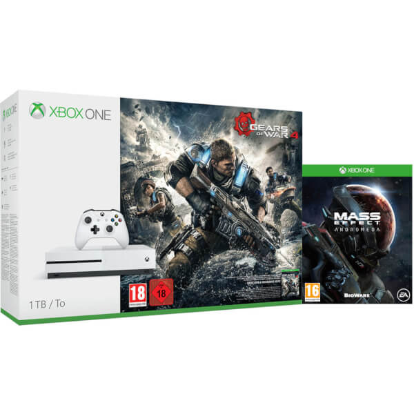 Xbox One S 1TB Console - Includes Gears of War 4 & Mass Effect Andromeda