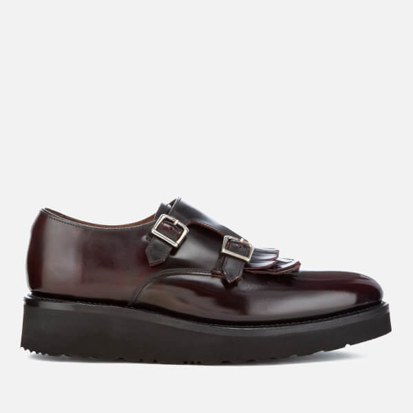Grenson Women's Audrey Leather Double Monk Shoes - Burgundy