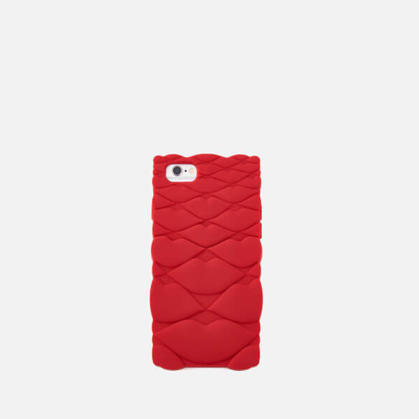 Lulu Guinness Women S Quilted Lips Iphone 6 7 Case Red