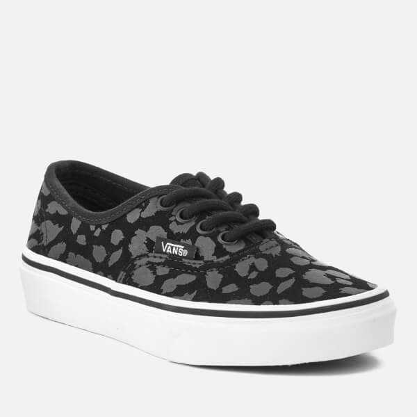 Vans Kids  Authentic Leopard Suede Trainers - Black  Image 2 a2b102c8a
