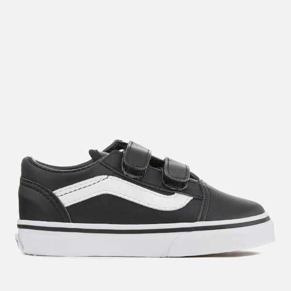 Vans Toddlers' Old Skool V Classic Tumble Trainers - Black/True White