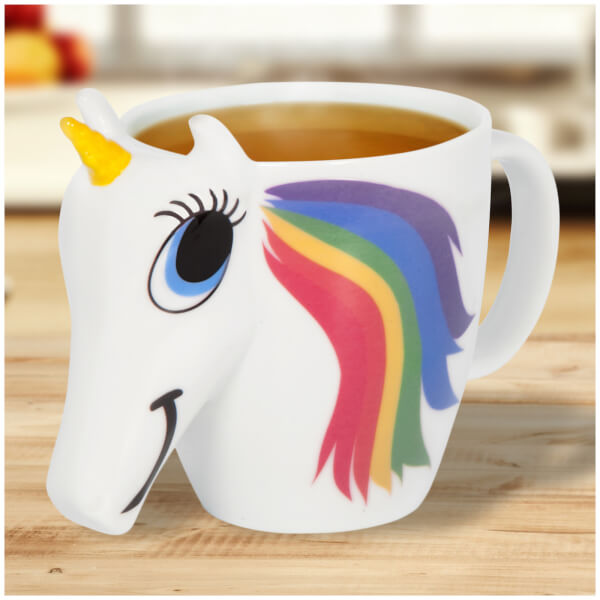 colour changing unicorn mug white iwoot. Black Bedroom Furniture Sets. Home Design Ideas