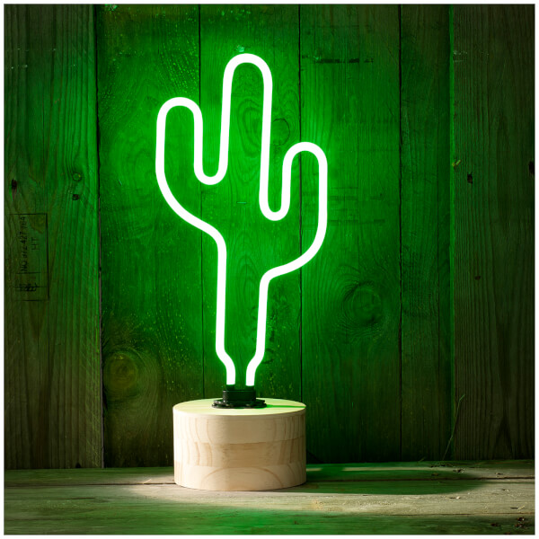 Cactus Neon Table Lamp - Green