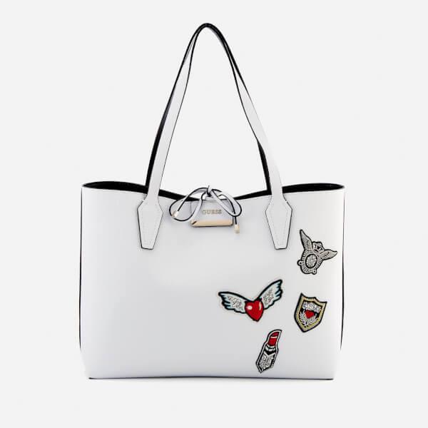 Guess Women's Bobbi Inside Out Tote Bag - White/Black