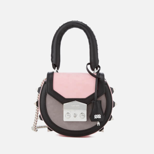 SALAR Women's Mimi Mini Bold Bag - Pink/Black