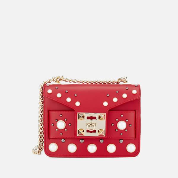 SALAR Women's Mila Pearl Bag - Red