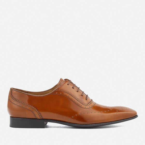 PS by Paul Smith Men's Adelaide Leather High Shine Oxford Shoes - Tan