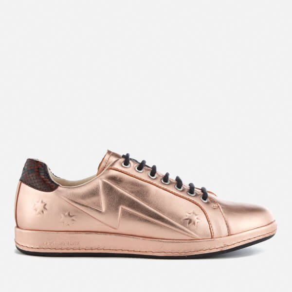 PS by Paul Smith Women's Lapin Leather Star Embossed Trainers - Copper Metallic