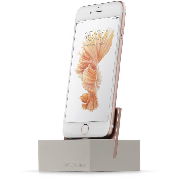 Native Union Dock For iPhone with 1.2m Cable - Stone