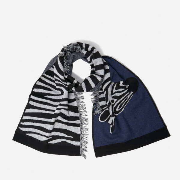 Paul Smith Women's Zebra Scarf - Blue
