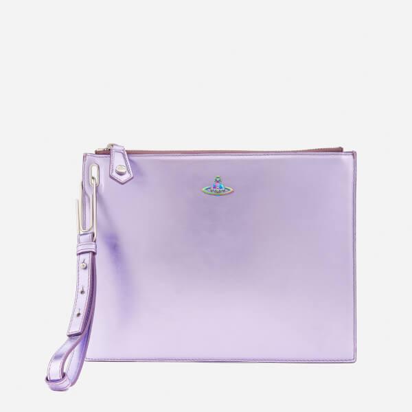 Vivienne Westwood Women's Venice Metallic Clutch Bag - Purple