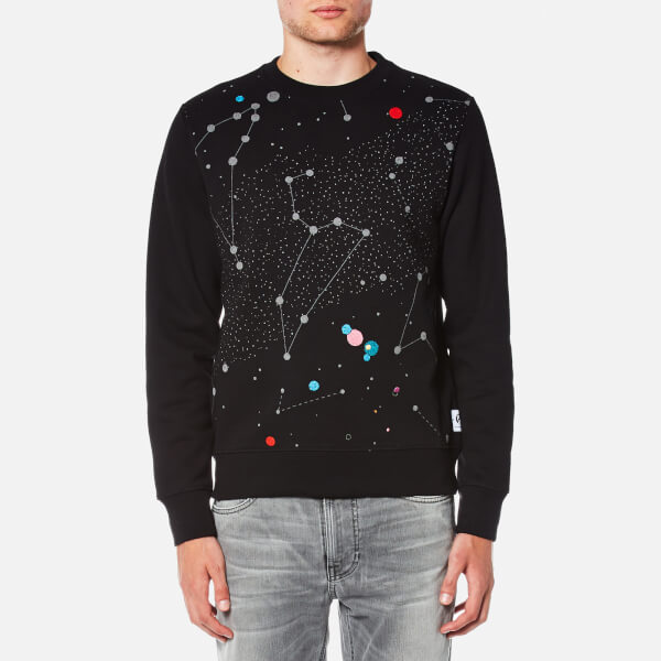 PS by Paul Smith Men's Printed Stars Long Sleeve Sweatshirt - Black