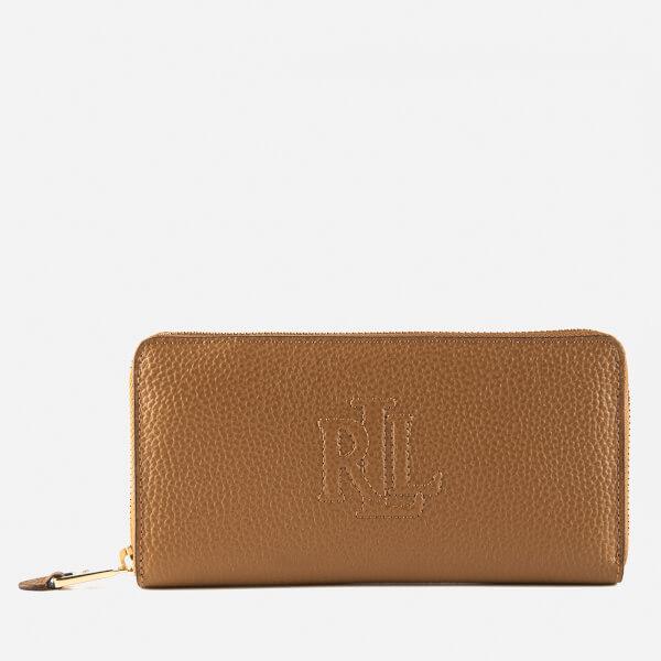 Lauren Ralph Lauren Women's Anstey Zip Wallet - Caramel