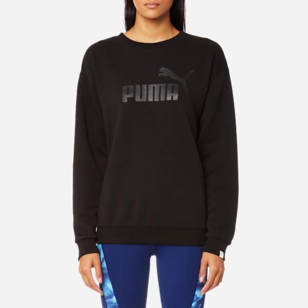 9474da4fda232 Puma Women s Essential No.1 Crew Sweatshirt - Cotton Black Womens ...