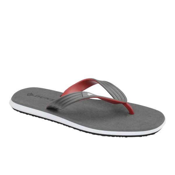 Dunlop Men's Toe Post Flip Flops - Grey