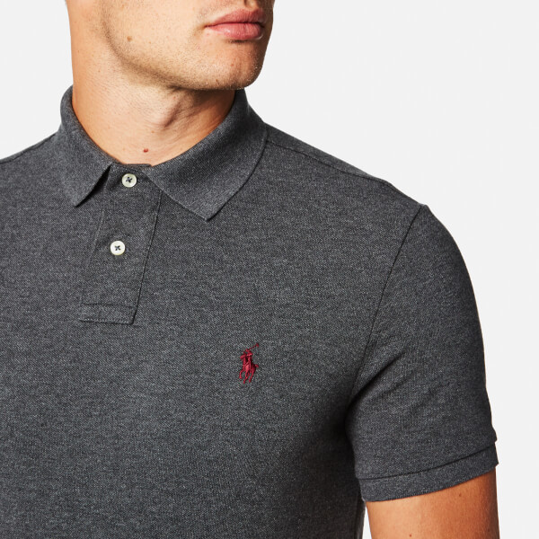 a21fa3a1 free shipping polo ralph lauren mens custom fit mesh polo shirt charcoal  image 4 50827 5c5fa
