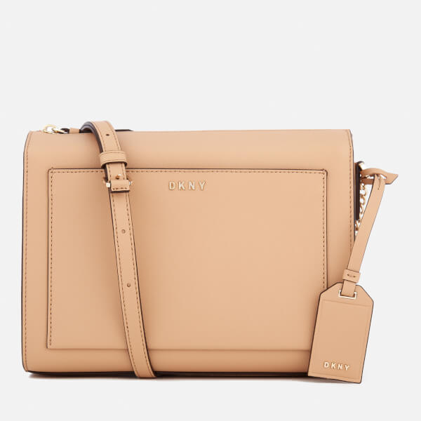 88754eebdb4 DKNY Women s Bryant Park Medium Box Cross Body Bag - Tea  Image 1