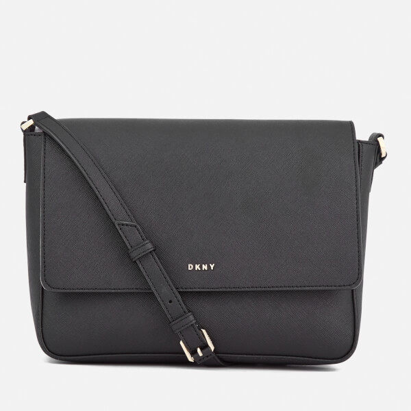 DKNY Women's Bryant Park Flap Cross Body Bag - Black