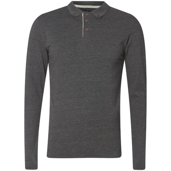 Advocate Men's Ralling Long Sleeve Polo Shirt - Charcoal Melange