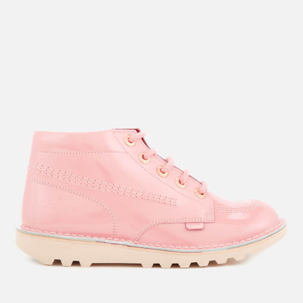 Kickers Kids' Kick Hi Patent Boots - Light Pink