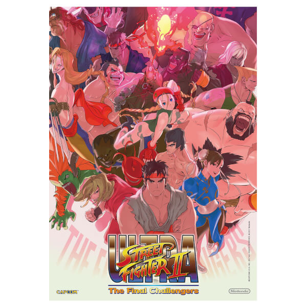 Ultra Street Fighter II: The Final Challengers + A2 Poster
