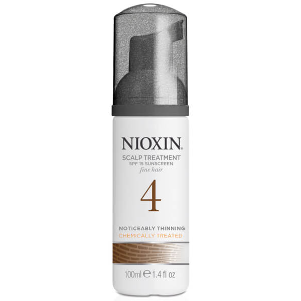 NIOXIN System 4 Scalp and Hair Treatment with Sunscreen for Fine, Noticeably Thinning, Chemically Treated Hair 100ml
