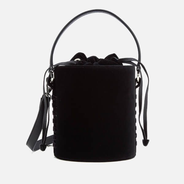 meli melo Women's Velvet Santina Mini Bucket Bag - Black