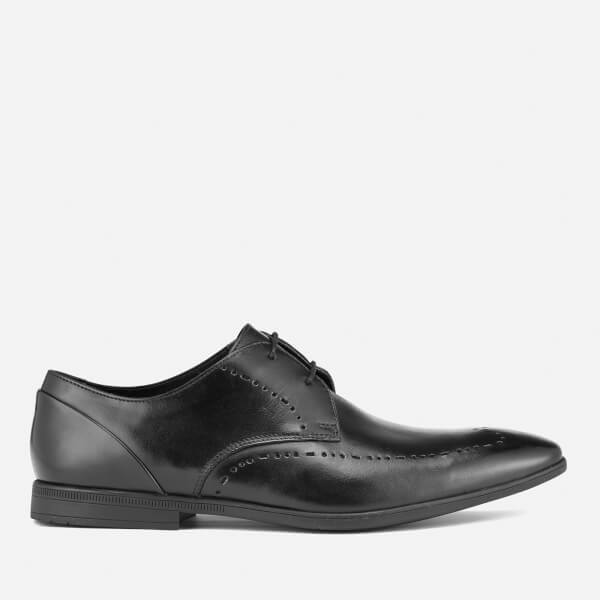 Clarks Men's Bampton Limit Leather Derby Shoes - Black