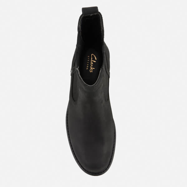 81222c4b9b6f Clarks Women s Orinoco Club Leather Chelsea Boots - Black Womens ...
