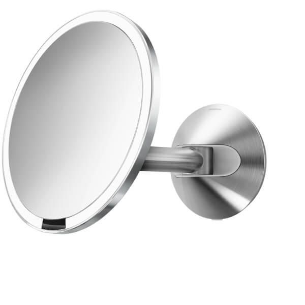 Simplehuman Wall Mount Stainless Steel Hard Wired Sensor Mirror 20cm Image 1