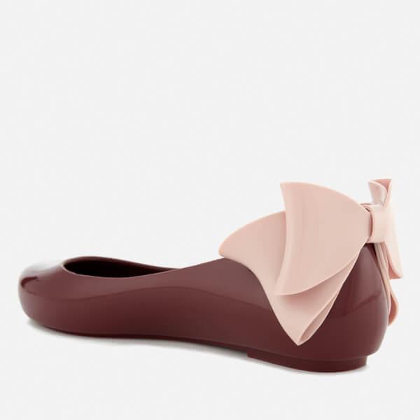 Melissa Women's Space Love Gift Bow Ballet Flats - Berry Contrast - UK 3 pfu2jW