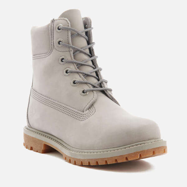 Timberland Women s 6 Inch Premium Leather Boots - Steeple Grey Waterbuck  Monochromatic  Image 2 98605af8a