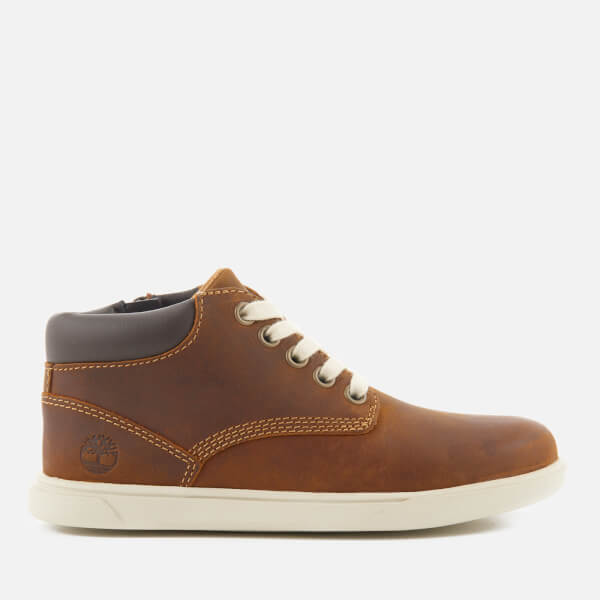 Timberland Kids' Groveton Leather Chukka Boots - Red Medium Brown: Image 1