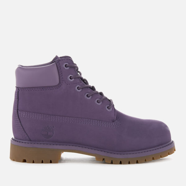 Timberland Kids' 6 Inch Premium Waterproof Boots - Montana Grape Waterbuck