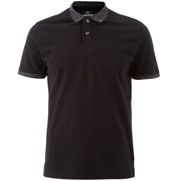 Threadbare Men's Compton Polo Shirt - Black
