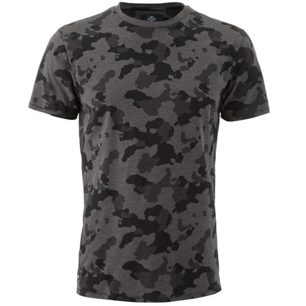 Threadbare Men's Felton Camo T-Shirt - Charcoal