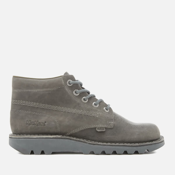 Kickers Men's Kick Hi Leather Boots - Dark Grey