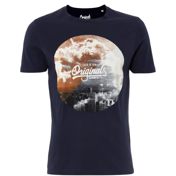 Jack & Jones Originals Men's Arco T-Shirt - Total Eclipse
