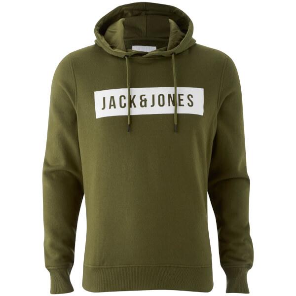 Jack & Jones Men's Core Bak Hoody - Capulet Olive