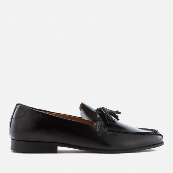 Hudson London Men's Bernini Leather Tassel Loafers - Black