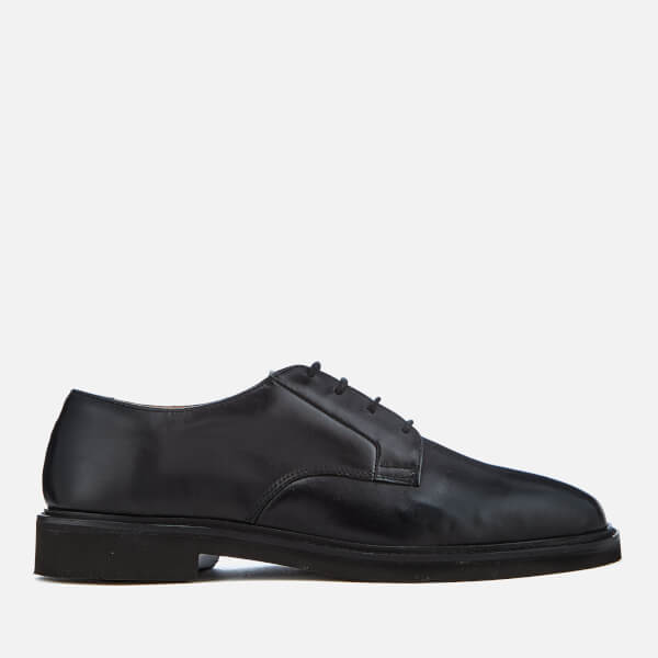 Hudson London Men's Ives Leather Light Derby Shoes - Black
