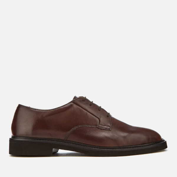 Hudson London Men's Ives Leather Light Derby Shoes - Brown