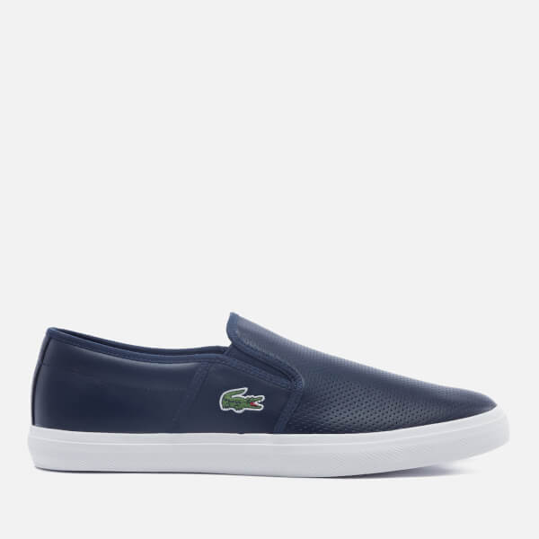 edf95dc9707e3 Lacoste Men s Gazon Bl 1 Leather Slip-On Trainers - Navy Mens ...