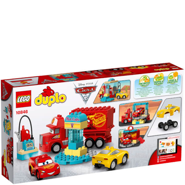 lego duplo cars 3 flo 39 s caf 10846 toys. Black Bedroom Furniture Sets. Home Design Ideas