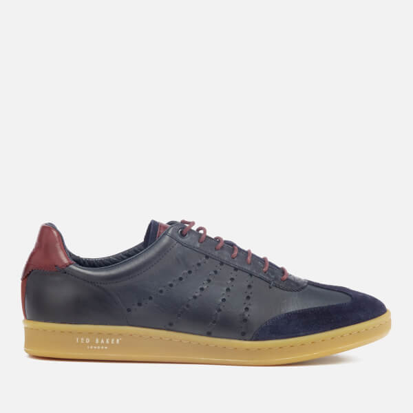 Ted Baker Men's Orlee Leather Cupsole Trainers - Dark Blue