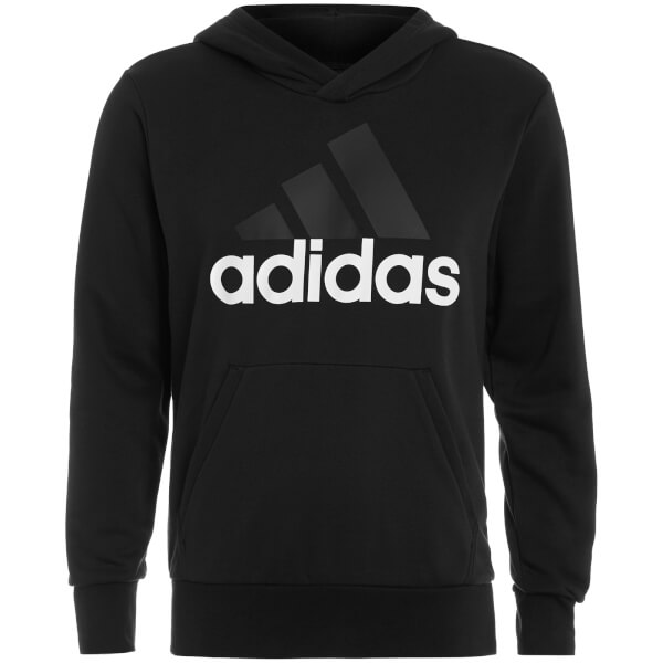 adidas Men's Essential Big Logo Hoody - Black