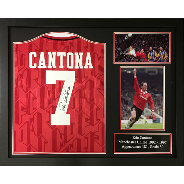 Eric Cantona Signed and Framed Manchester United Shirt